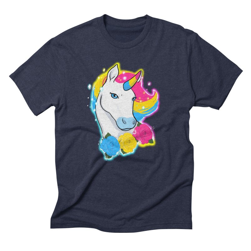 Pansexual pride unicorn Men's Triblend T-Shirt by AnimeGravy