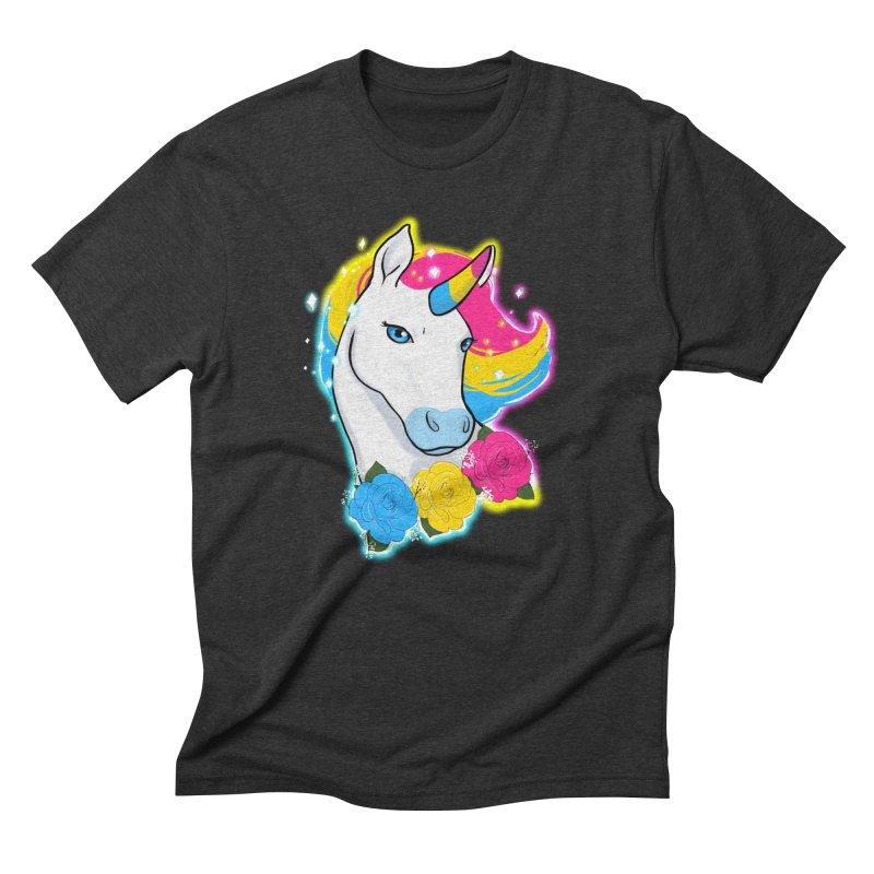 Pansexual pride unicorn Men's Triblend T-Shirt by AnimeGravy
