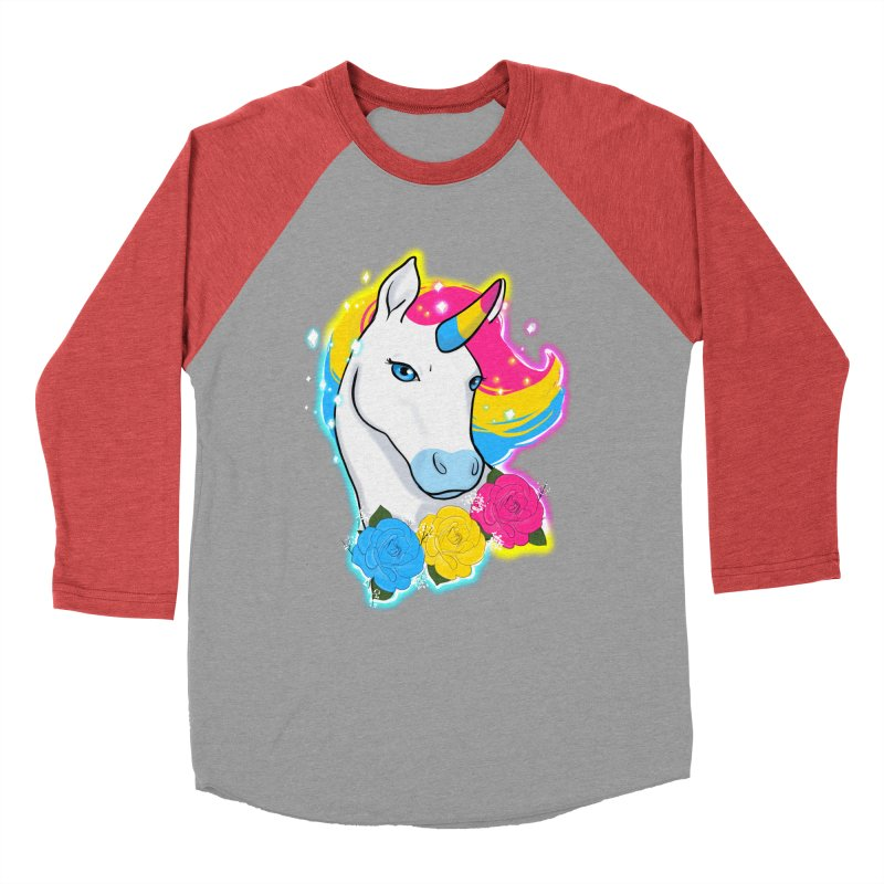 Pansexual pride unicorn Men's Baseball Triblend Longsleeve T-Shirt by AnimeGravy