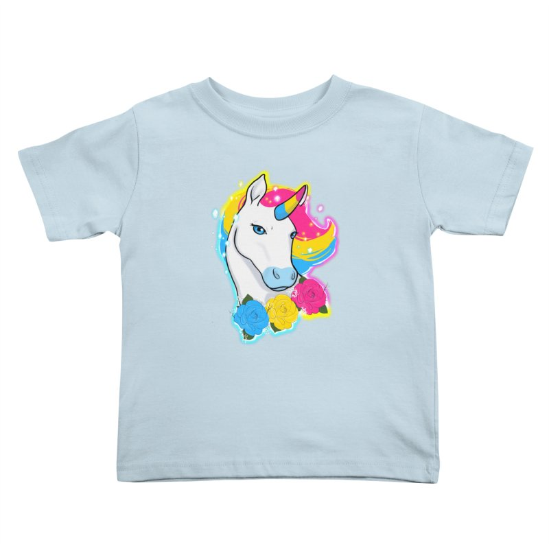Pansexual pride unicorn Kids Toddler T-Shirt by AnimeGravy