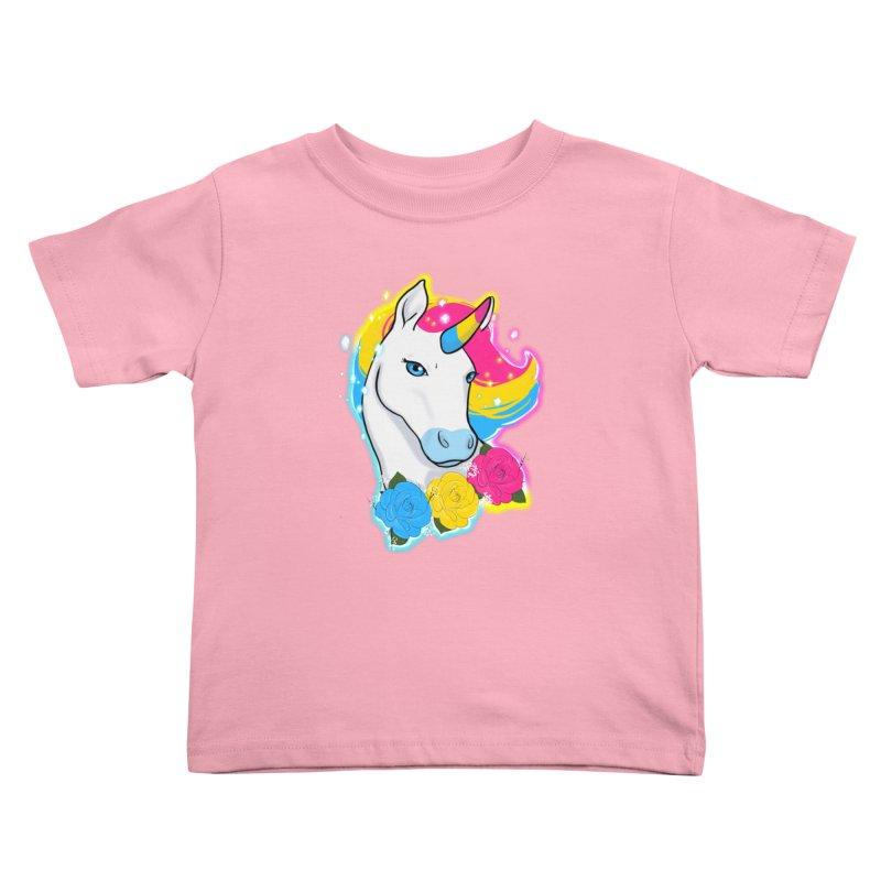 Pansexual pride unicorn Kids Toddler T-Shirt by AnimeGravy