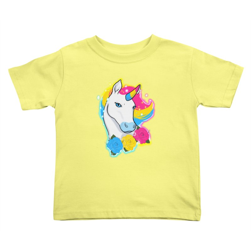 Pansexual pride unicorn Kids Toddler T-Shirt by Animegravy's Artist Shop