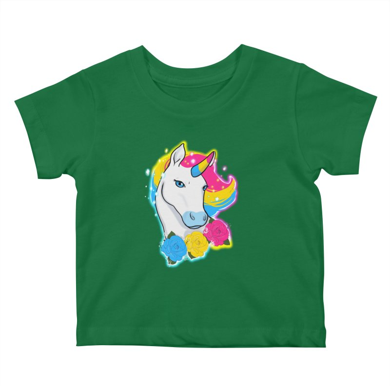 Pansexual pride unicorn Kids Baby T-Shirt by AnimeGravy
