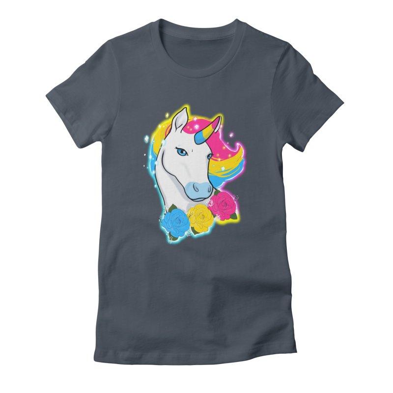 Pansexual pride unicorn Women's T-Shirt by AnimeGravy