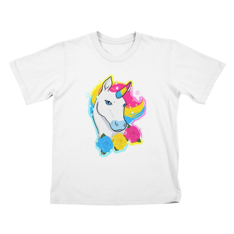 Pansexual pride unicorn Kids T-Shirt by AnimeGravy