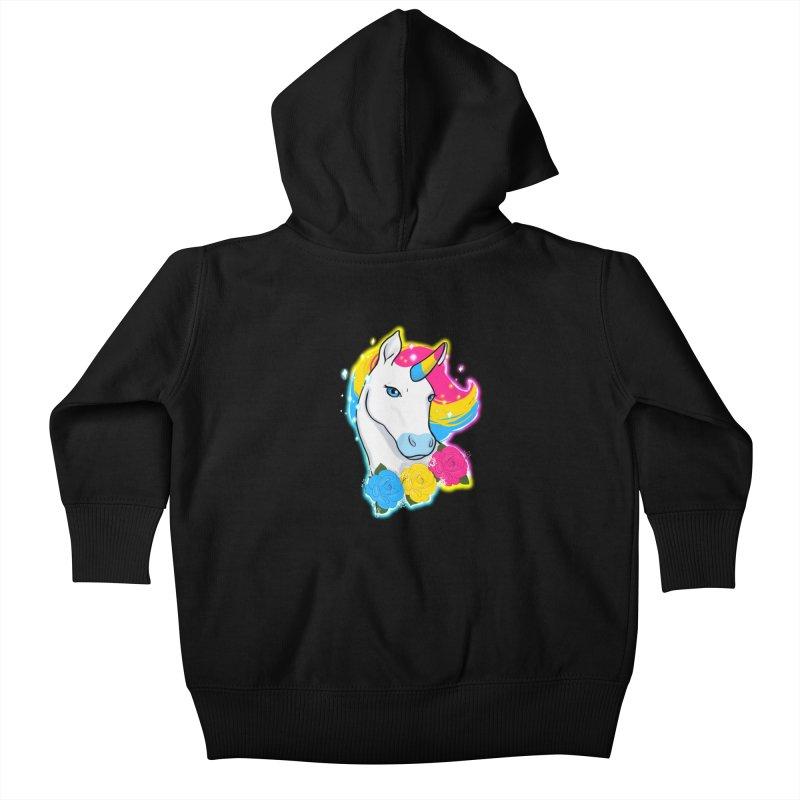Pansexual pride unicorn Kids Baby Zip-Up Hoody by AnimeGravy