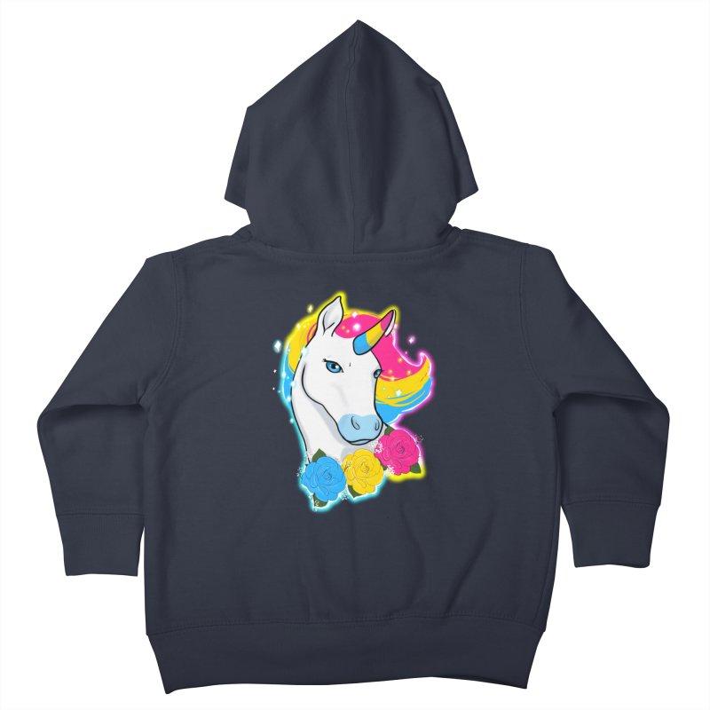Pansexual pride unicorn Kids Toddler Zip-Up Hoody by Animegravy's Artist Shop