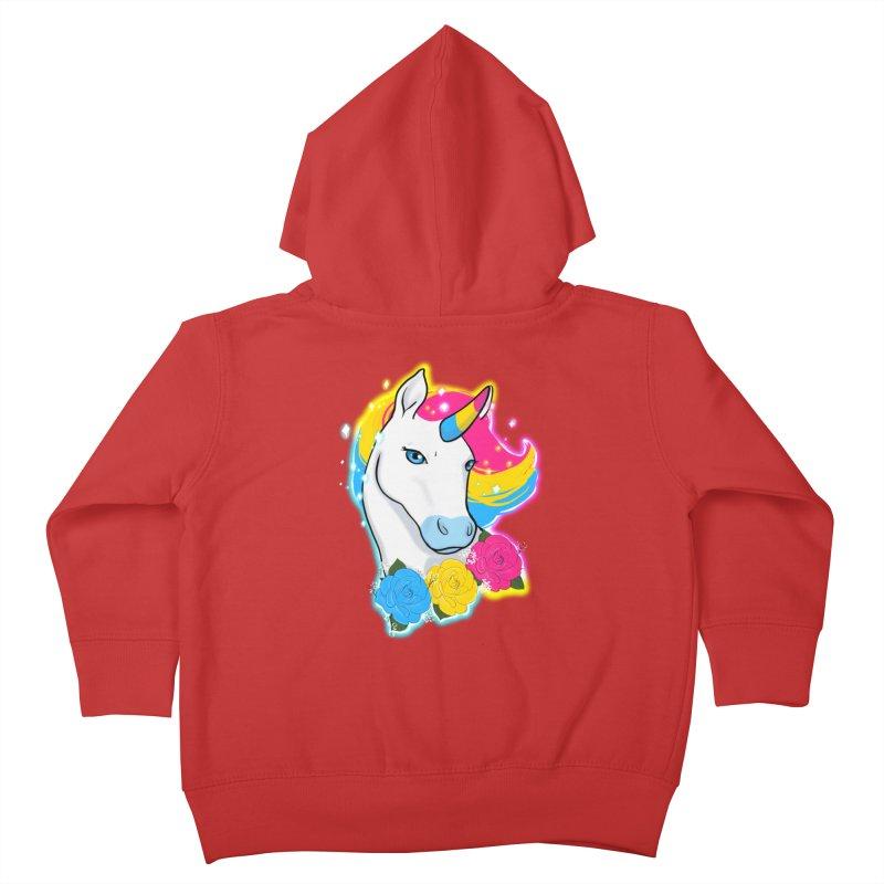 Pansexual pride unicorn Kids Toddler Zip-Up Hoody by AnimeGravy