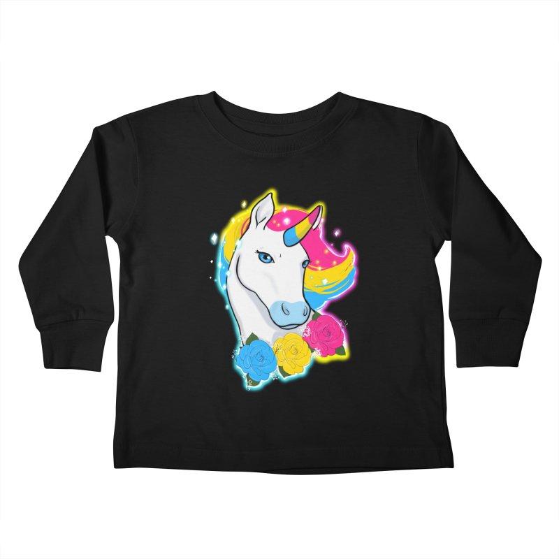 Pansexual pride unicorn Kids Toddler Longsleeve T-Shirt by Animegravy's Artist Shop