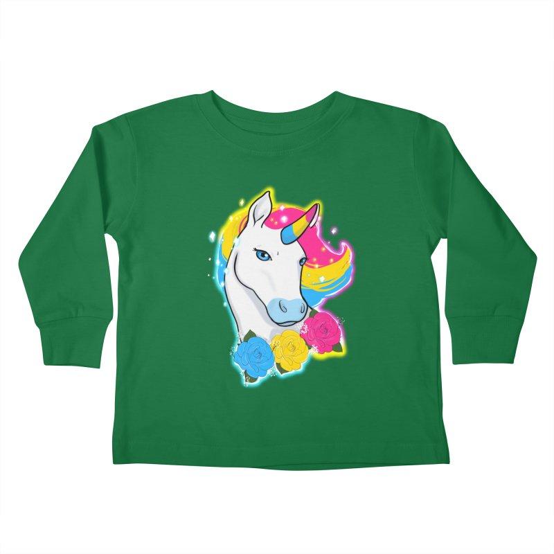 Pansexual pride unicorn Kids Toddler Longsleeve T-Shirt by AnimeGravy