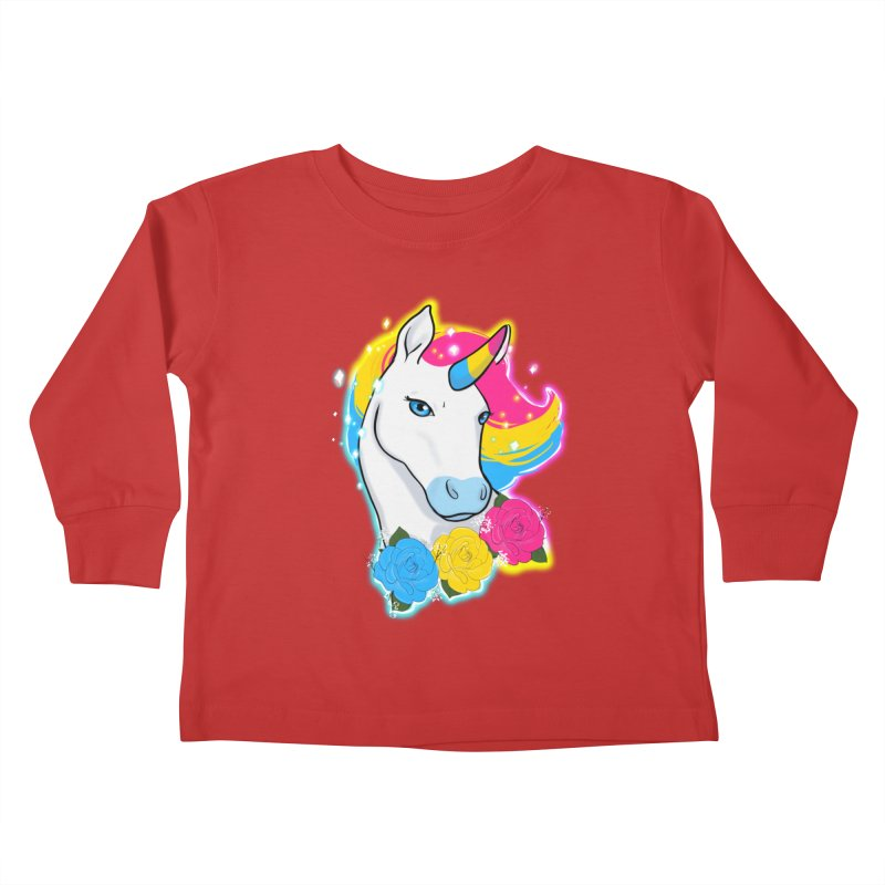 Pansexual pride unicorn Kids Toddler Longsleeve T-Shirt by AnimeGravy