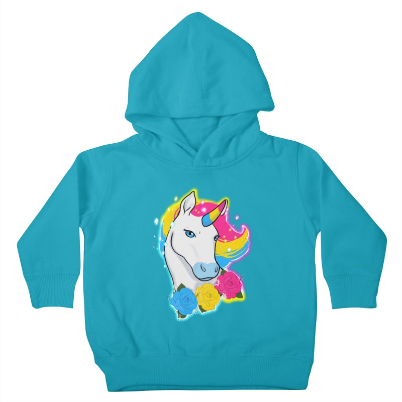 Pansexual pride unicorn Kids Toddler Pullover Hoody by AnimeGravy