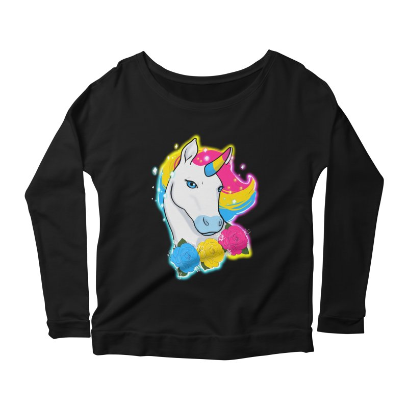 Pansexual pride unicorn Women's Scoop Neck Longsleeve T-Shirt by AnimeGravy
