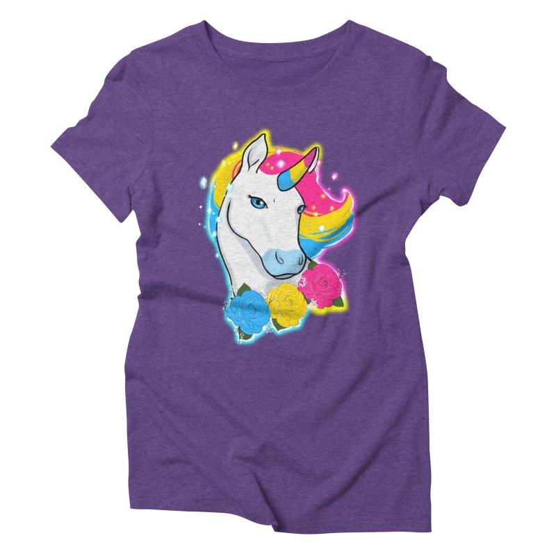 Pansexual pride unicorn Women's Triblend T-Shirt by AnimeGravy