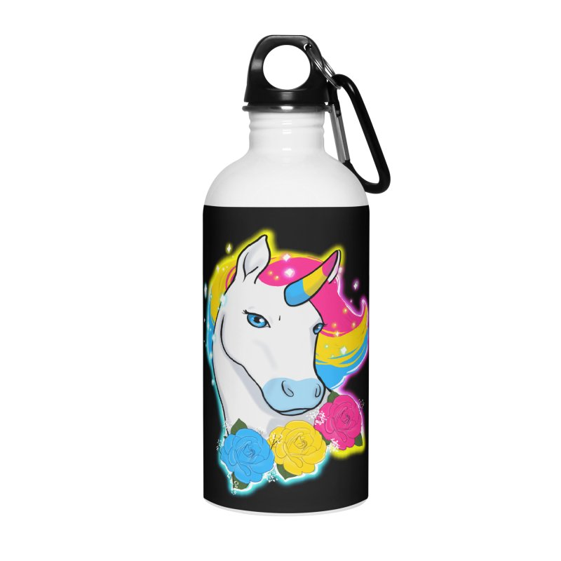 Pansexual pride unicorn Accessories Water Bottle by Animegravy's Artist Shop