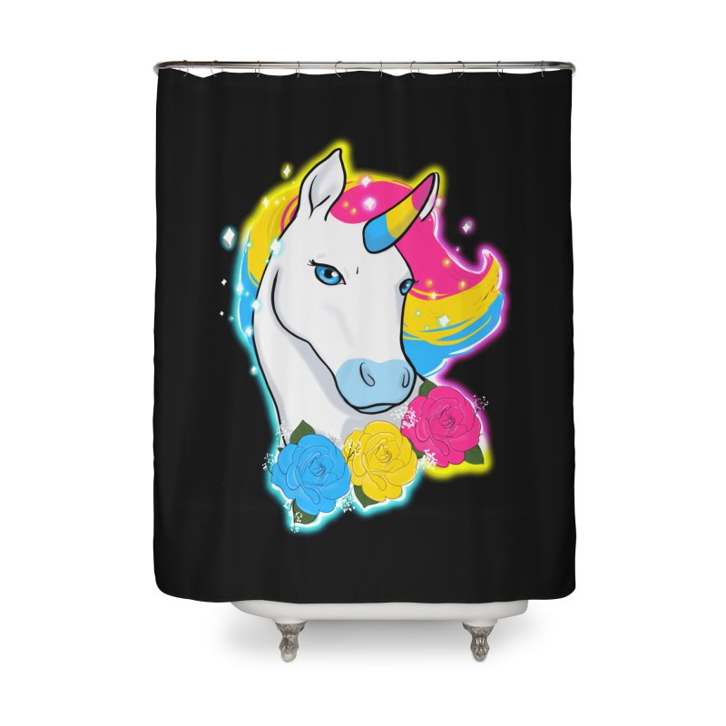 Pansexual pride unicorn Home Shower Curtain by AnimeGravy