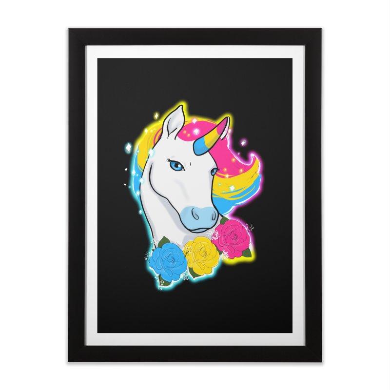 Pansexual pride unicorn Home Framed Fine Art Print by AnimeGravy