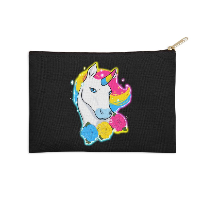 Pansexual pride unicorn Accessories Zip Pouch by AnimeGravy
