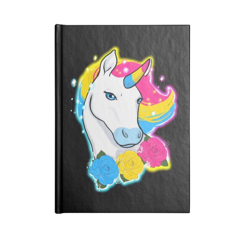 Pansexual pride unicorn Accessories Lined Journal Notebook by AnimeGravy
