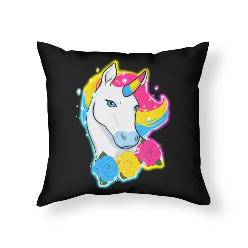 Pansexual pride unicorn Home Throw Pillow by Animegravy's Artist Shop