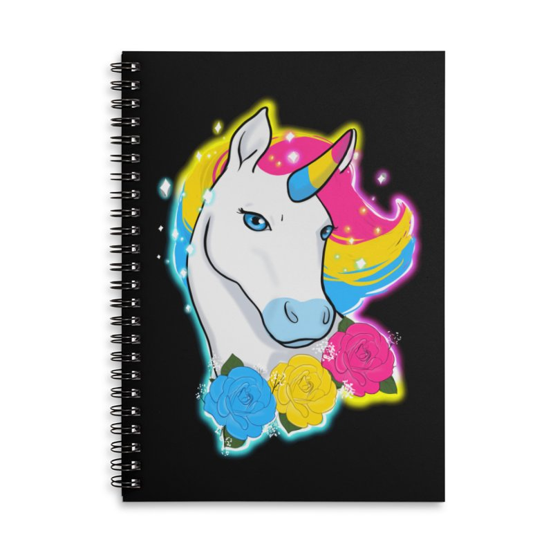 Pansexual pride unicorn Accessories Lined Spiral Notebook by AnimeGravy