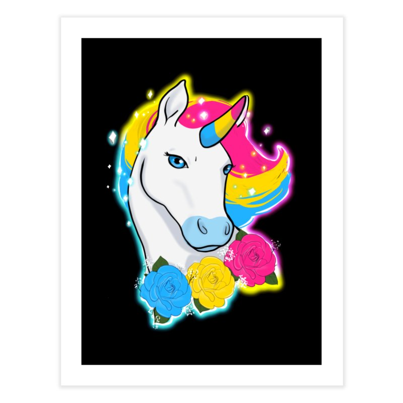 Pansexual pride unicorn Home Fine Art Print by AnimeGravy