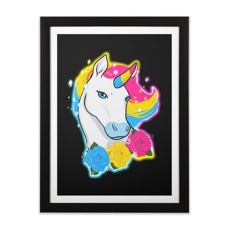 Pansexual pride unicorn Home Framed Fine Art Print by AnimeGravy