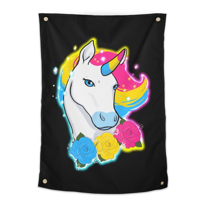 Pansexual pride unicorn Home Tapestry by AnimeGravy