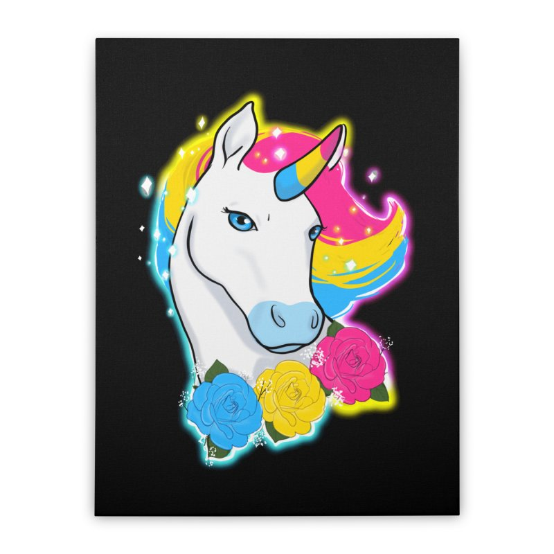 Pansexual pride unicorn Home Stretched Canvas by AnimeGravy