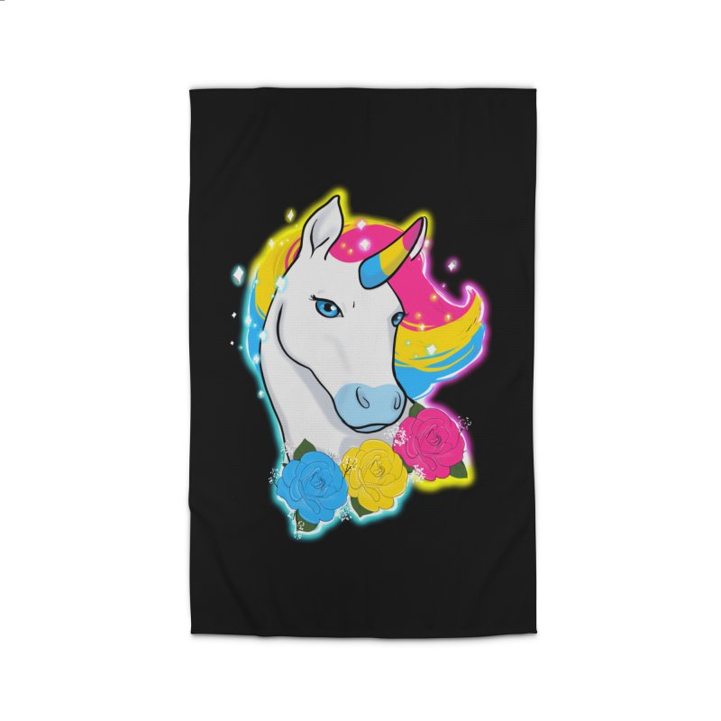 Pansexual pride unicorn Home Rug by AnimeGravy