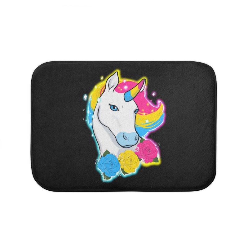 Pansexual pride unicorn Home Bath Mat by AnimeGravy