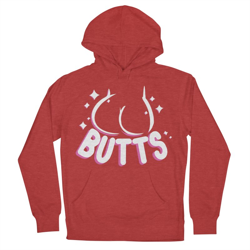 Butts Men's French Terry Pullover Hoody by AnimeGravy