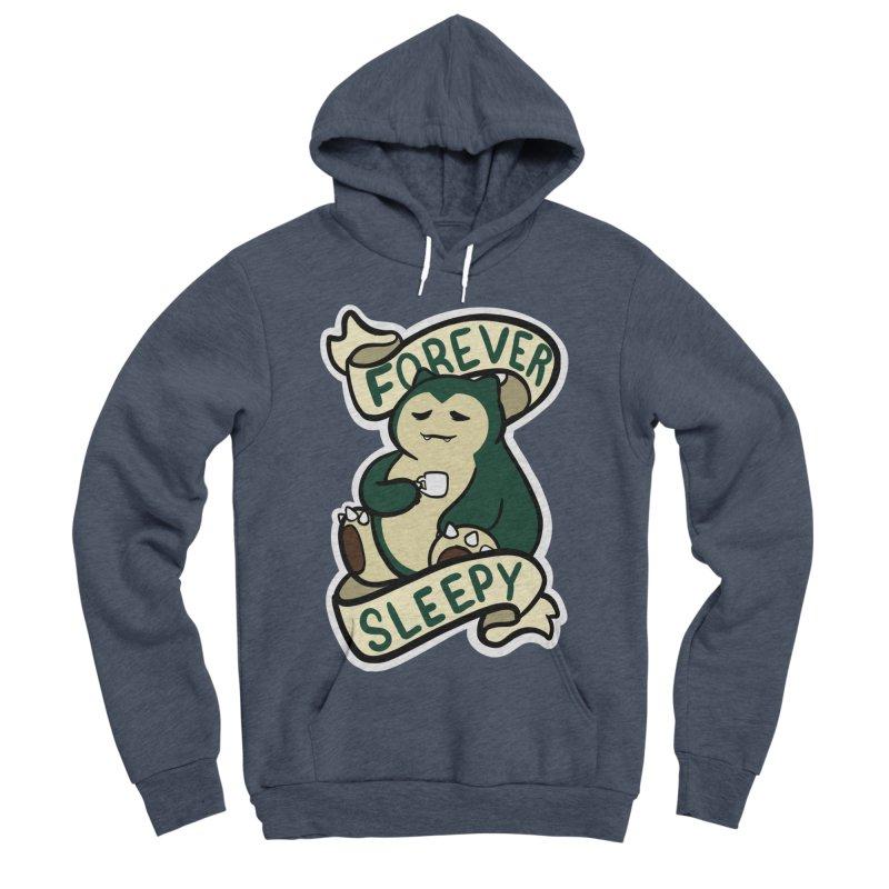 Forever sleepy Snorlax Men's Sponge Fleece Pullover Hoody by AnimeGravy