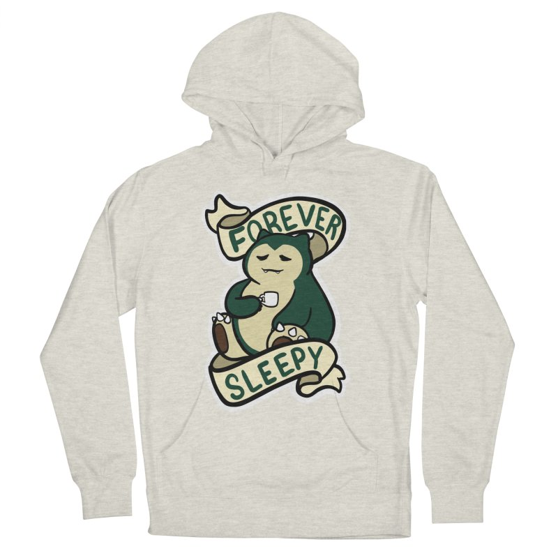 Forever sleepy Snorlax Men's French Terry Pullover Hoody by AnimeGravy