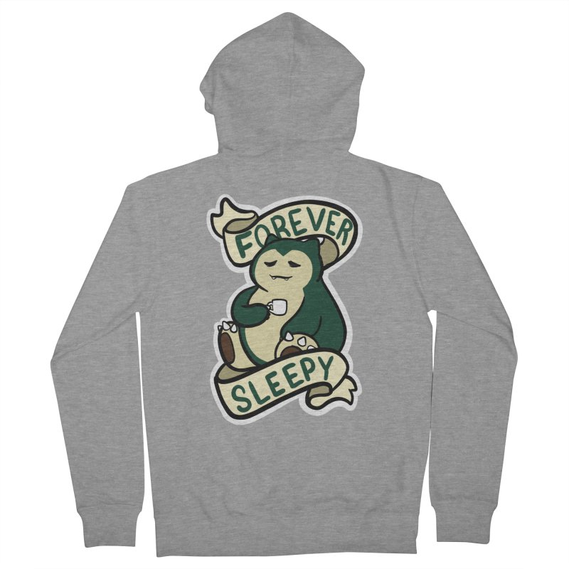 Forever sleepy Snorlax Women's French Terry Zip-Up Hoody by AnimeGravy