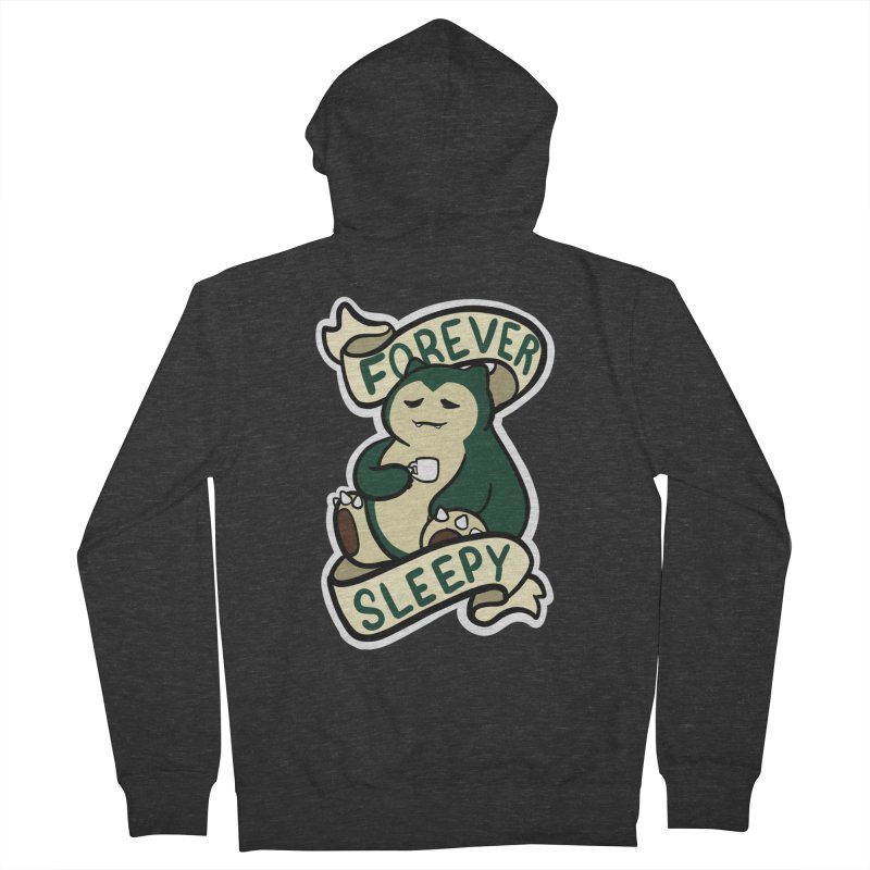 Forever sleepy Snorlax Men's French Terry Zip-Up Hoody by AnimeGravy