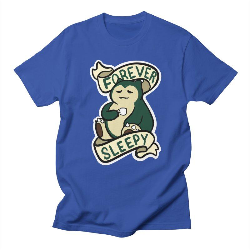 Forever sleepy Snorlax Men's Regular T-Shirt by AnimeGravy