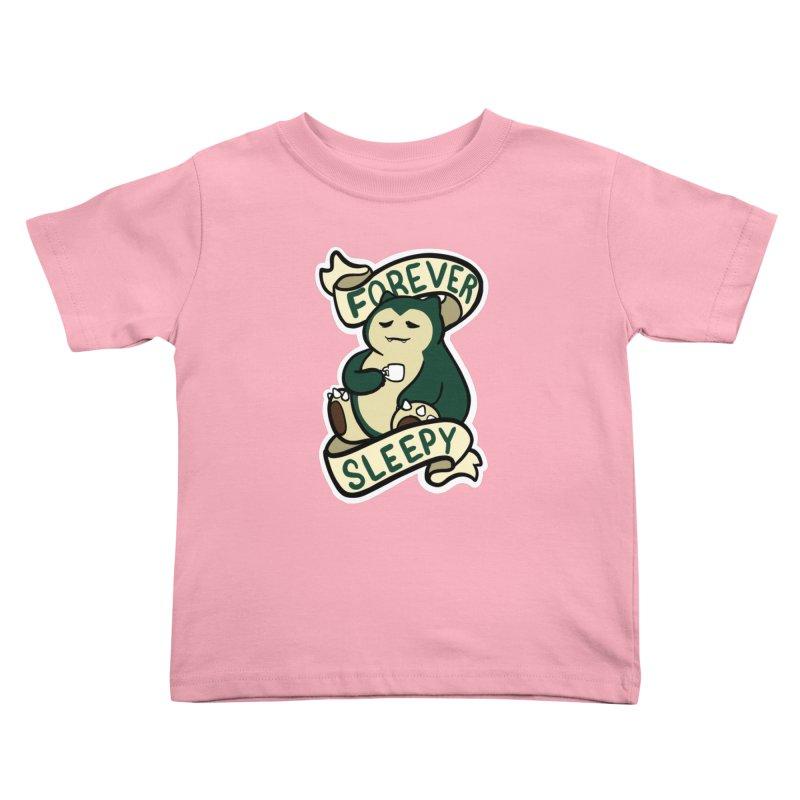 Forever sleepy Snorlax Kids Toddler T-Shirt by AnimeGravy