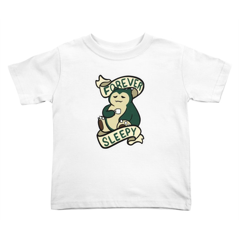 Forever sleepy Snorlax Kids Toddler T-Shirt by AnimeGravy