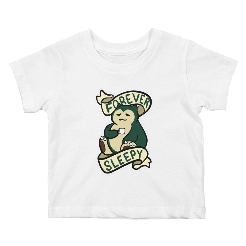 Forever sleepy Snorlax Kids Baby T-Shirt by AnimeGravy