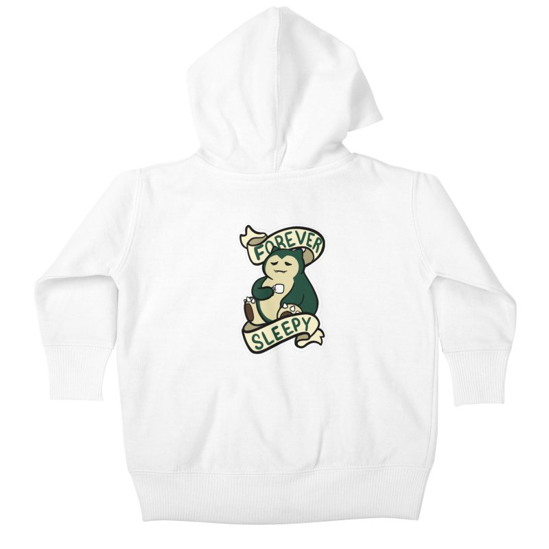 Forever sleepy Snorlax Kids Baby Zip-Up Hoody by AnimeGravy