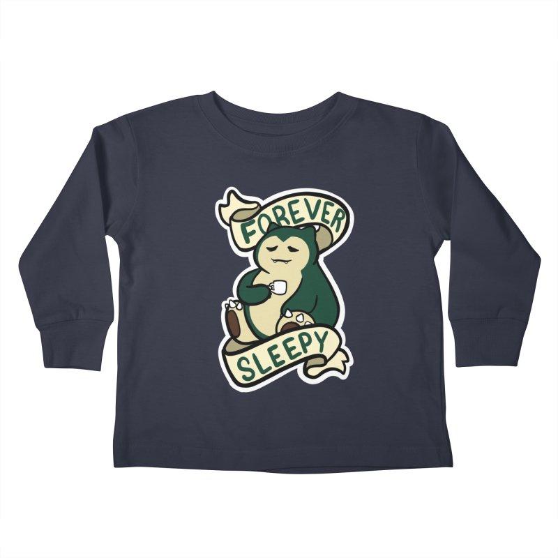 Forever sleepy Snorlax Kids Toddler Longsleeve T-Shirt by AnimeGravy