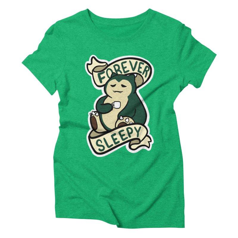 Forever sleepy Snorlax Women's Triblend T-Shirt by AnimeGravy