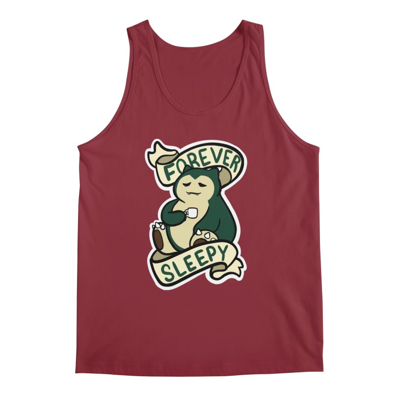Forever sleepy Snorlax Men's Regular Tank by AnimeGravy