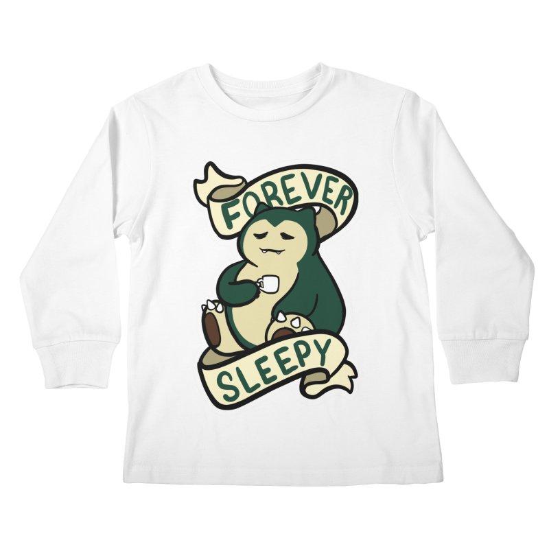 Forever sleepy Snorlax Kids Longsleeve T-Shirt by AnimeGravy