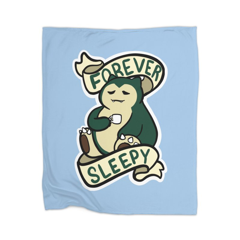 Forever sleepy Snorlax Home Blanket by AnimeGravy
