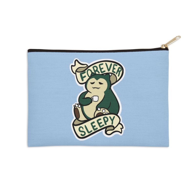 Forever sleepy Snorlax Accessories Zip Pouch by AnimeGravy