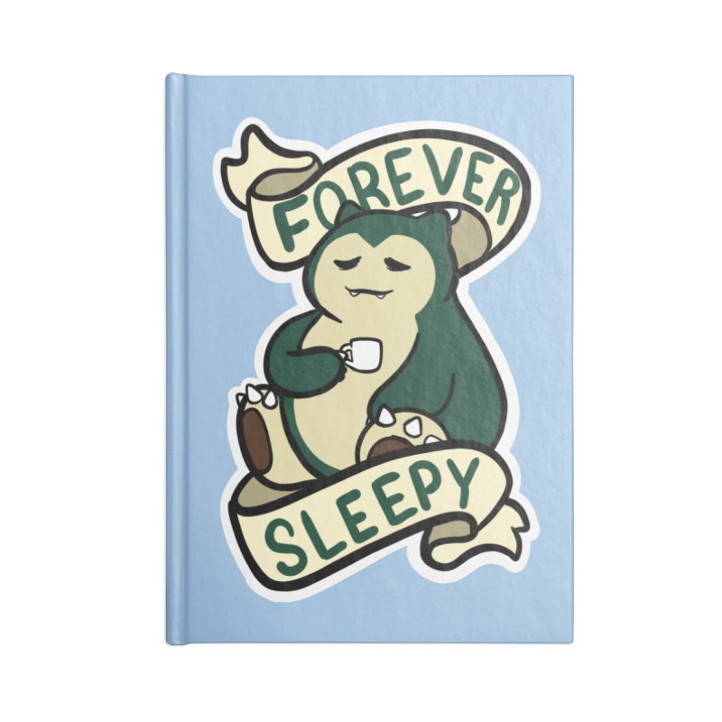 Forever sleepy Snorlax Accessories Lined Journal Notebook by AnimeGravy