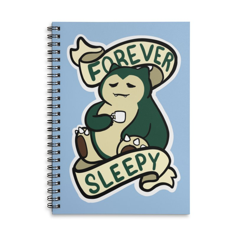 Forever sleepy Snorlax Accessories Lined Spiral Notebook by AnimeGravy