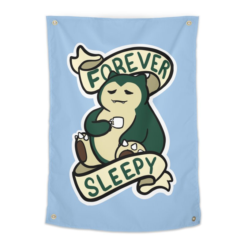 Forever sleepy Snorlax Home Tapestry by AnimeGravy